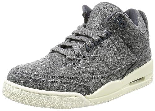 d8fb07ee1334cc Nike Jordan Men s Air Jordan 3 Retro Wool Basketball Shoe Dark Grey Dark  Grey
