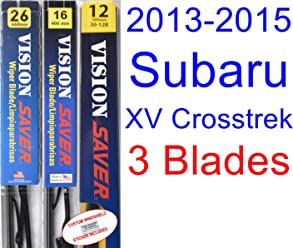 2013-2015 Subaru XV Crosstrek Replacement Wiper Blade Set/Kit (Set of 3