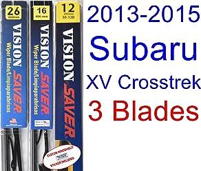 2013-2015 Subaru XV Crosstrek Replacement Wiper Blade Set/Kit (Set of 3