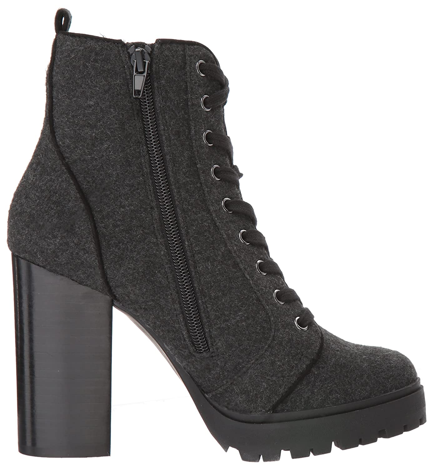 Steve Madden Women's Laurie Combat US|Grey Boot B072J5SDF5 7 M US|Grey Combat Flannel e8dd39