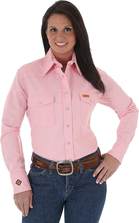 Wrangler RIGGS WORKWEAR Women's FR Western Long Sleeve Snap Workshirt: Clothing