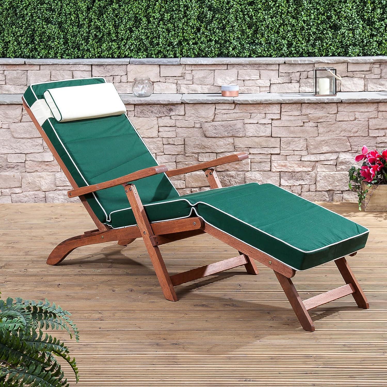 Alfresia Luxury Steamer Deck Chair Cushion in Cream