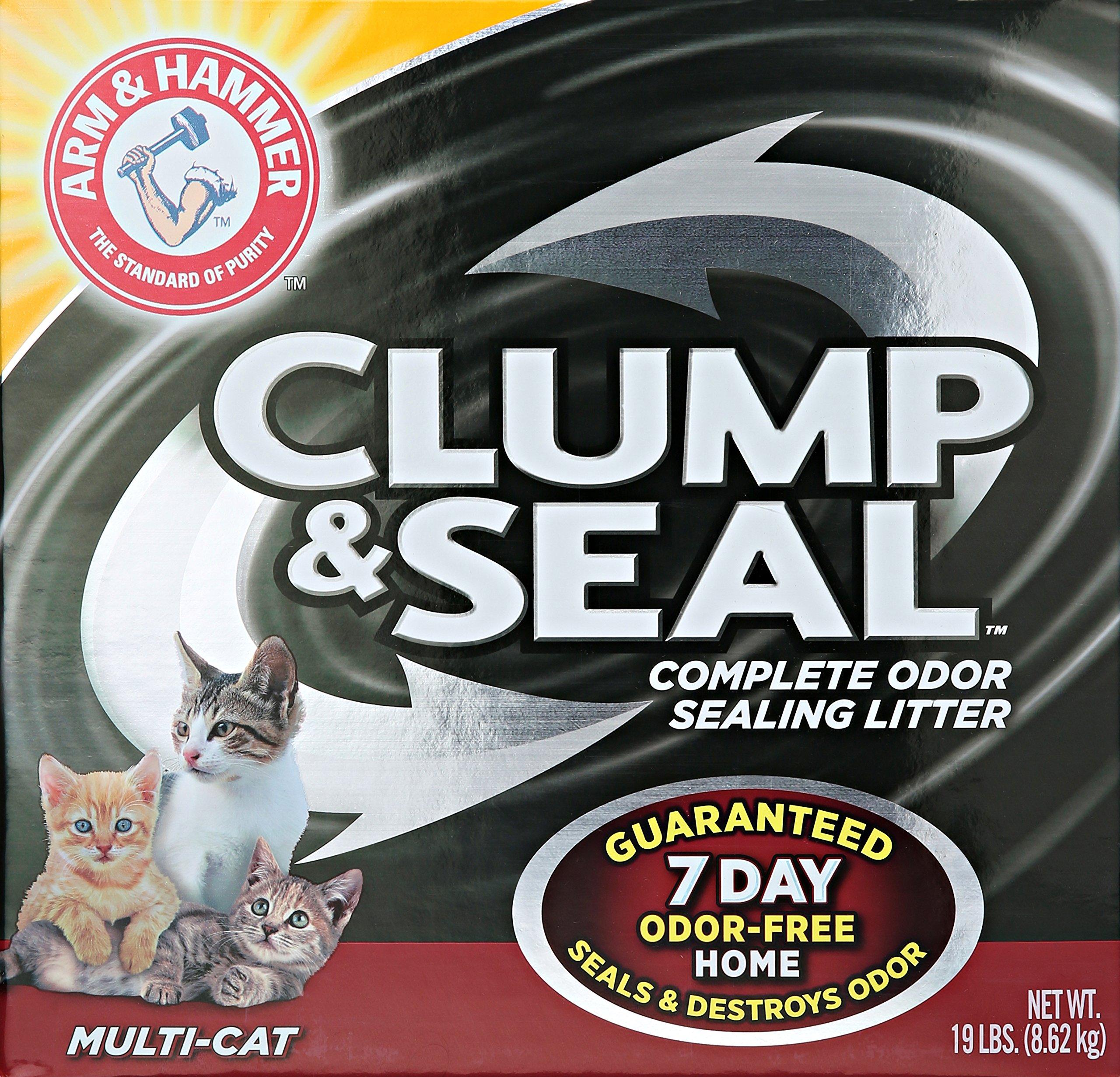 Arm & Hammer Clump & Seal Litter Multi-Cat 19 Lbs