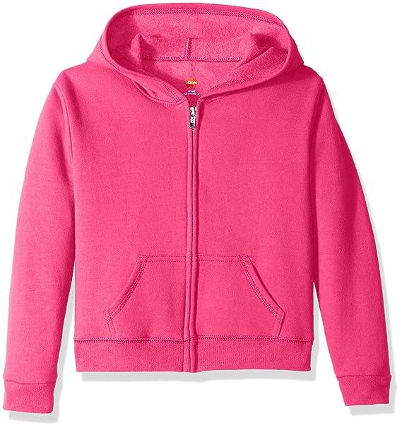 8833f407a7c Hanes Girls ComfortSoft EcoSmart Full-Zip Fleece Hoodie Hooded Sweatshirt   Amazon.ca  Clothing   Accessories