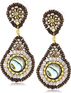 product image for Miguel Ases Abalone Small Tear Drop Post Earrings