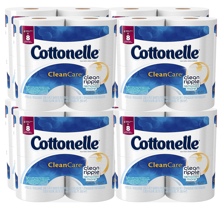 Amazon.com: Cottonelle Clean Care Toilet Paper, Double Roll, 4 ...
