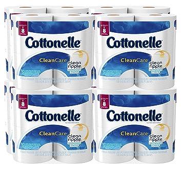 Amazon.com: Cottonelle Clean Care Toilet Paper, Double Roll, 4 Count ...