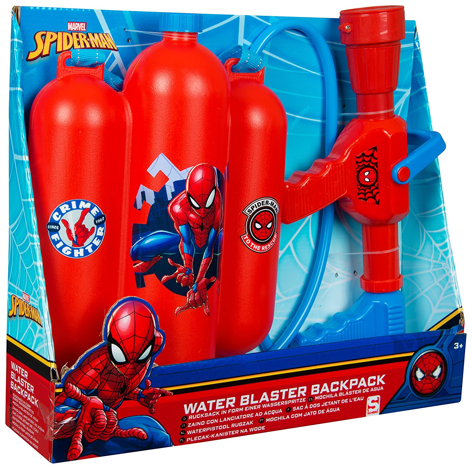Spiderman spe-3121  acqua Blaster zaino, multicolore Sambro