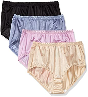 c319a91a8fb4 Just My Size Women's Just My Size Women's 4-pack Nylon Brief Panties at Amazon  Women's Clothing store: