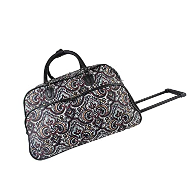 f4a13b3f064f World Traveler 21-Inch Carry-On Rolling Duffel Bag - New Paisley