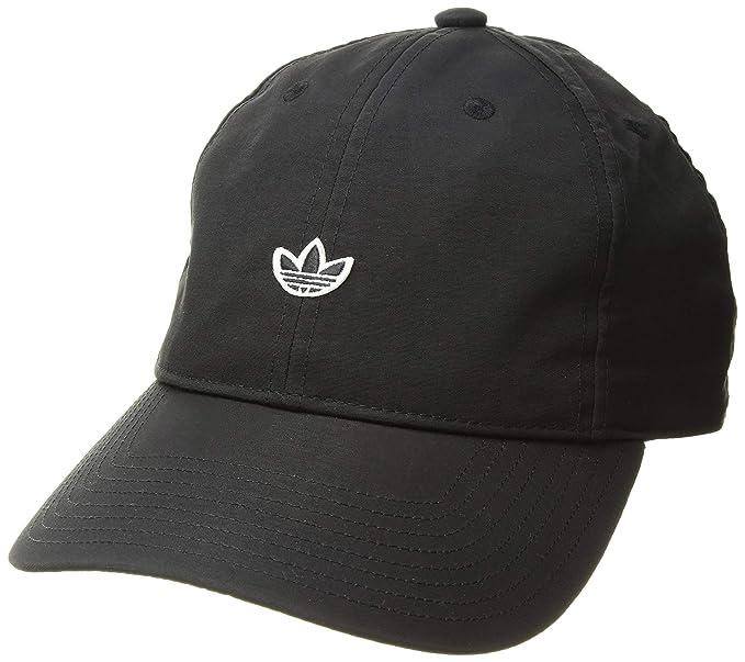 4154b25e adidas Women's Originals Nylon Relaxed Adjustable Strapback Cap, black/white,  One Size
