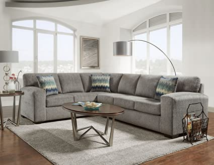 Delicieux Roundhill Furniture LAF5950SP Bergen Fabric Sectional Sofa