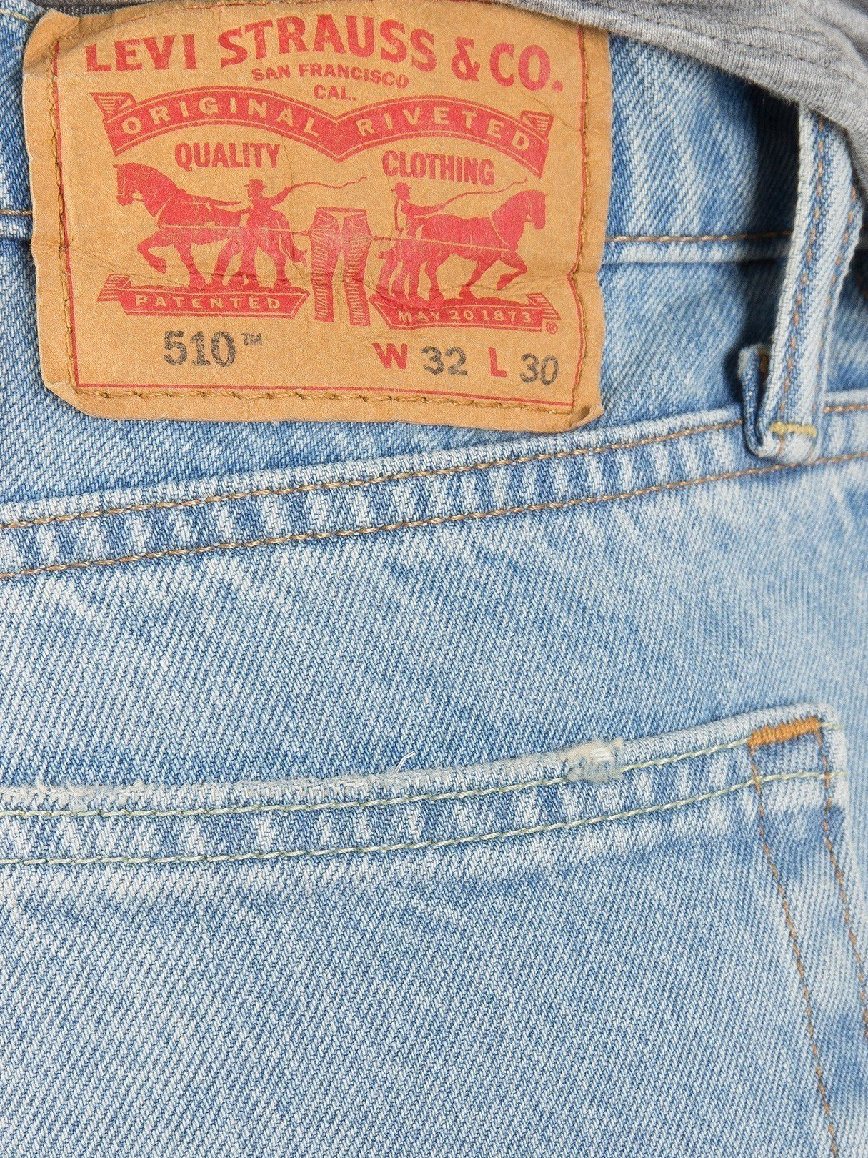 Levi's Men's 510 Skinny Fit Jeans, Blue, 28W x 32L