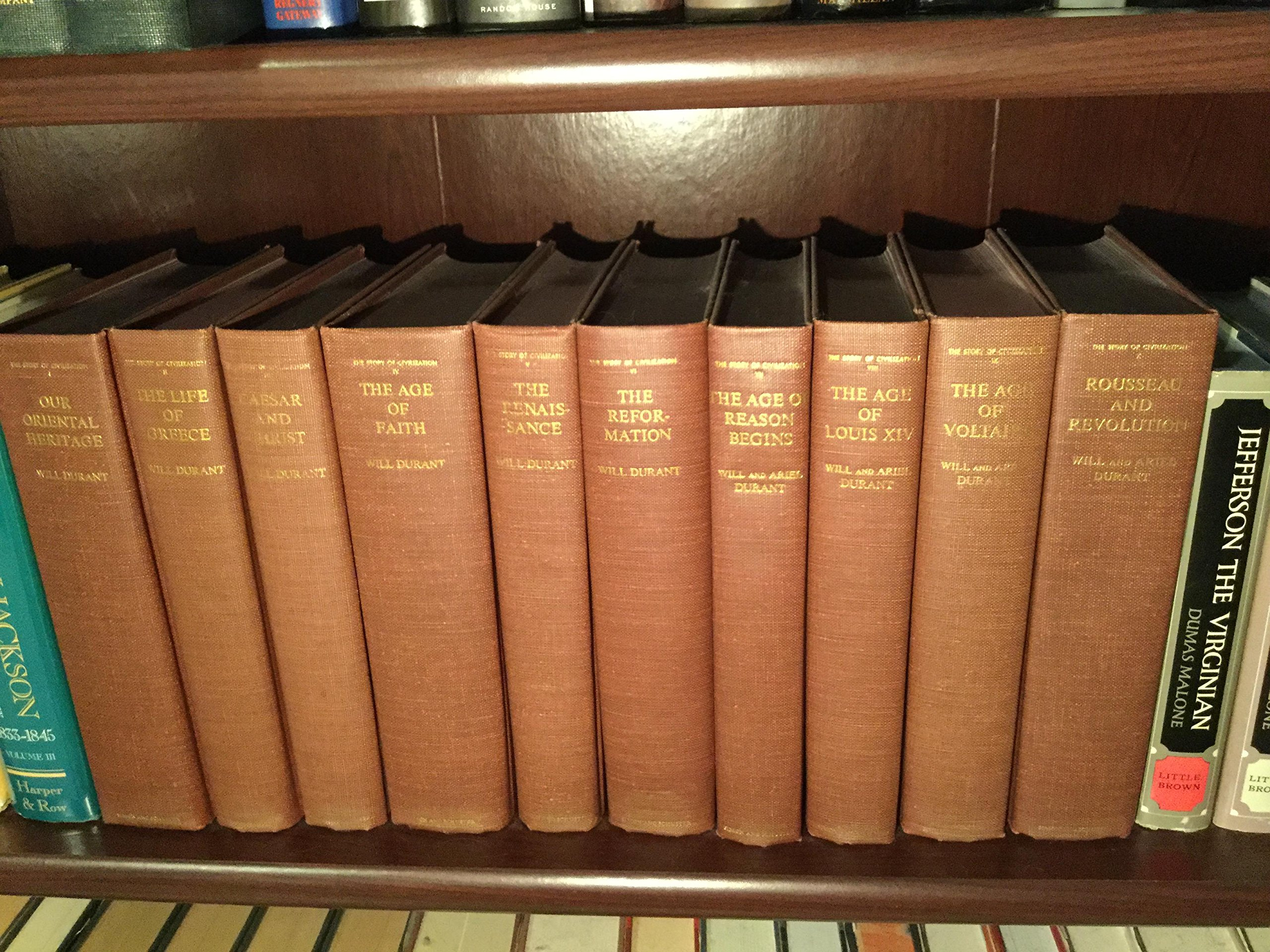 The Story of Civilization [Volumes 1 to 11] (Hardcover Set 1963-1975)