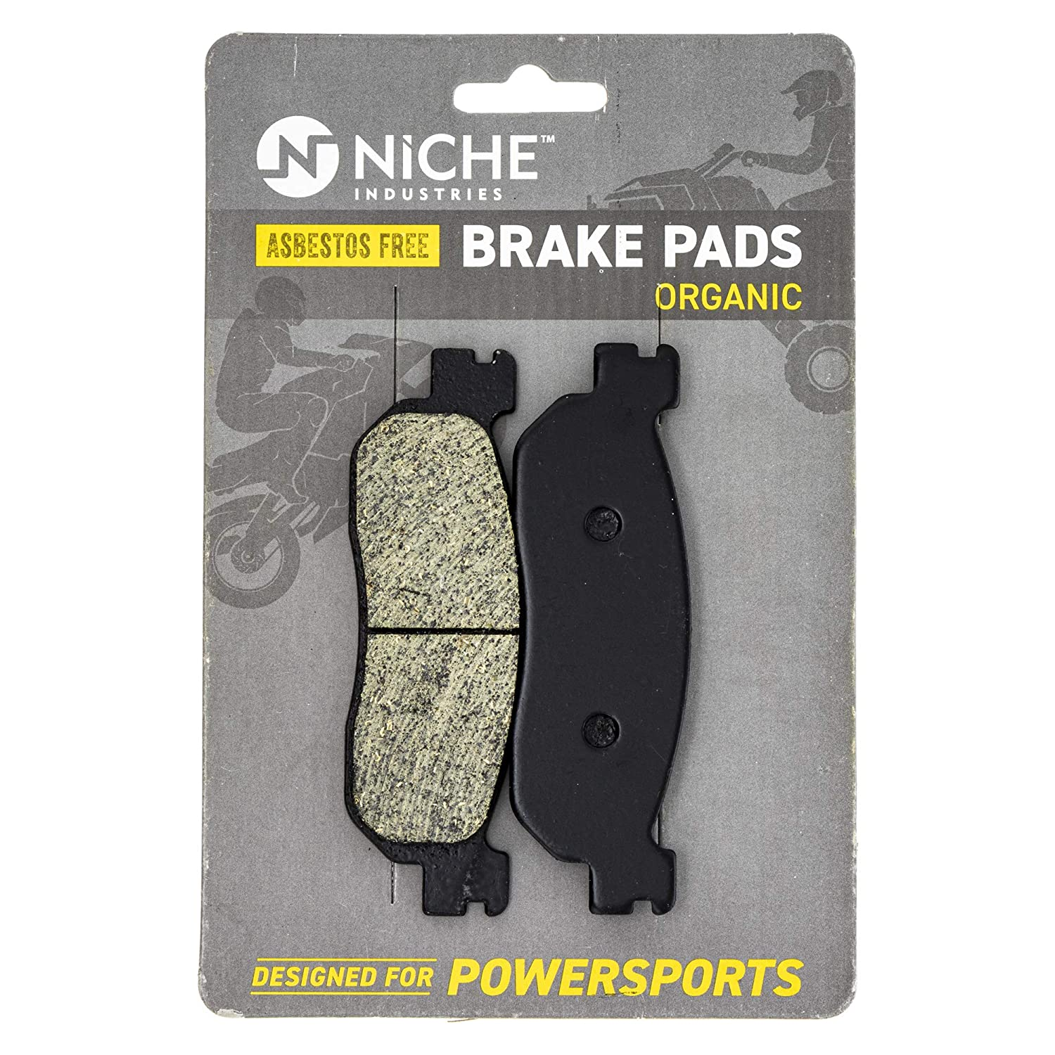 NICHE Brake Pad with Show Set For Yamaha TW200 XT225 3C5-25805-00-00 4KN-W253E-11-00 Complete Organic