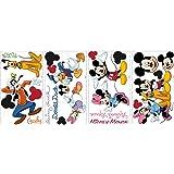 RoomMates 539039 Moderne Sticker Multi-Eléments Repositionnable Disney Mickey et ses Amis Vinyle Adhésif