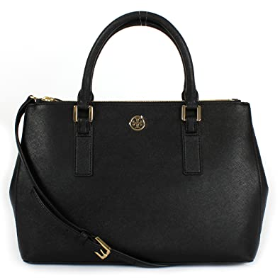 4be1a698da48 Amazon.com  Tory Burch Robinson Mini EW tote Black (36881)  Shoes