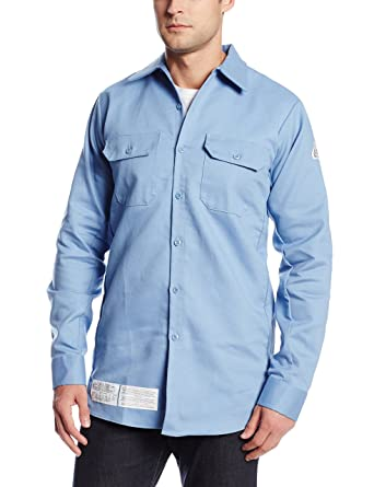 da878bf97dac Bulwark Flame Resistant 7 oz Cotton Nylon Excel FR ComforTouch Regular Work  Shirt with Sleeve