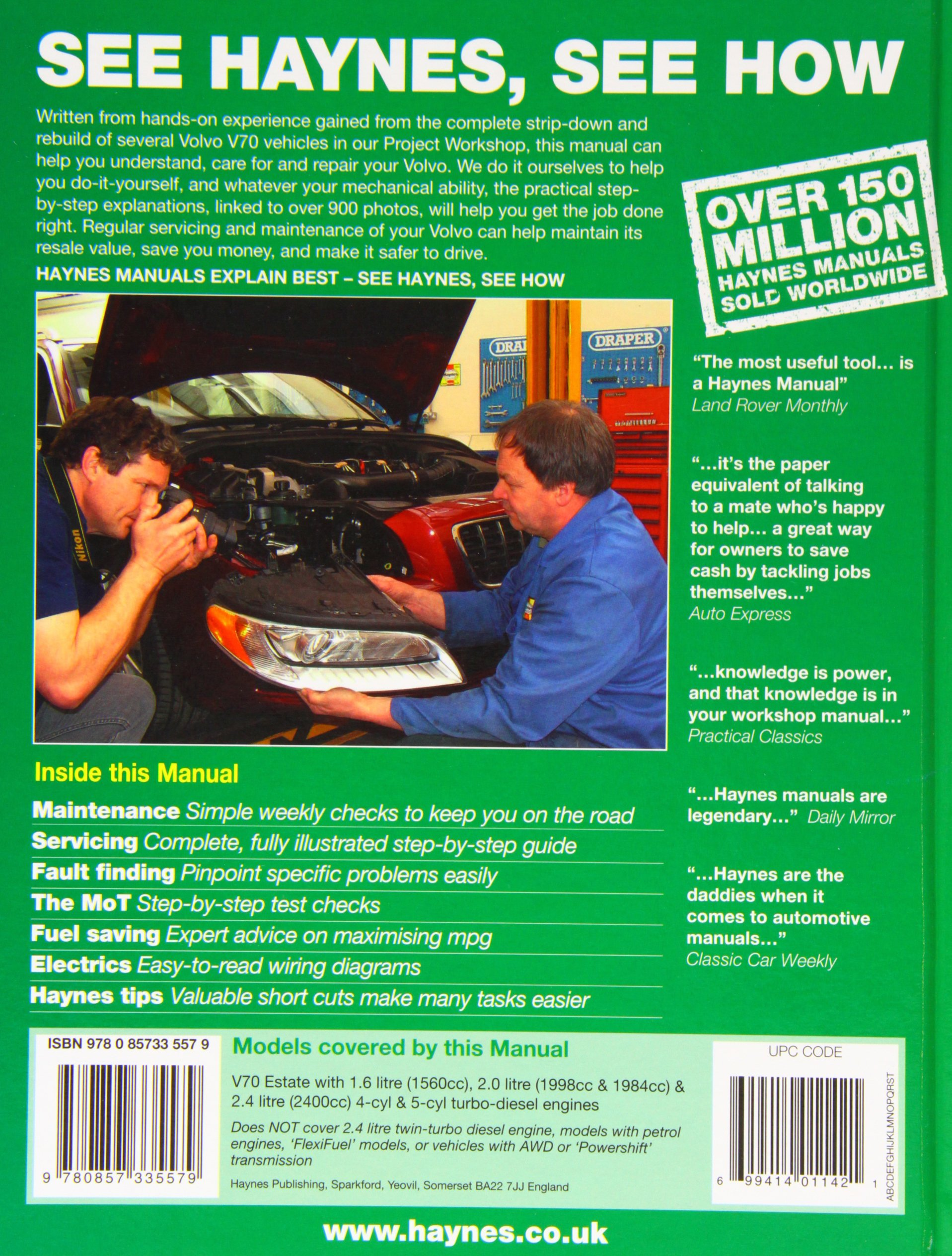 Volvo V70 Diesel June 07 12 07 To 61 2007 2012 Owners Workshop Manual Randall Chris Fremdsprachige Bücher