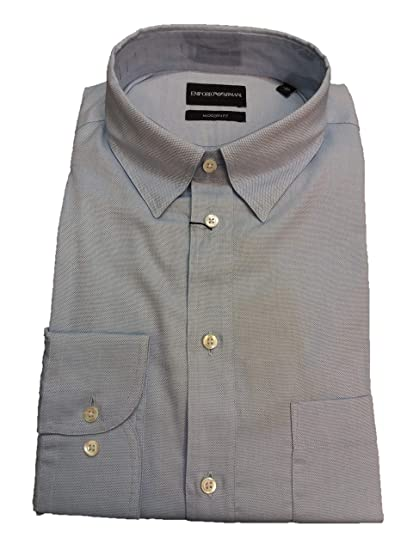 81a7dcb500 Emporio Armani Camicia Uomo Azzurra: Amazon.co.uk: Clothing