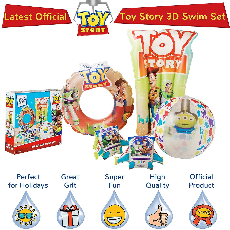 Schwimmring Disney Toy Story 4 Aufblasbares Schwimmbecken Zubeh/ör F/ür Kinder Mit Woody /& Buzz Lightyear Wasserball Und Schwimmk/örper 4-in-1-deluxe-wasserspiel Set Mit Kinderarmb/ändern