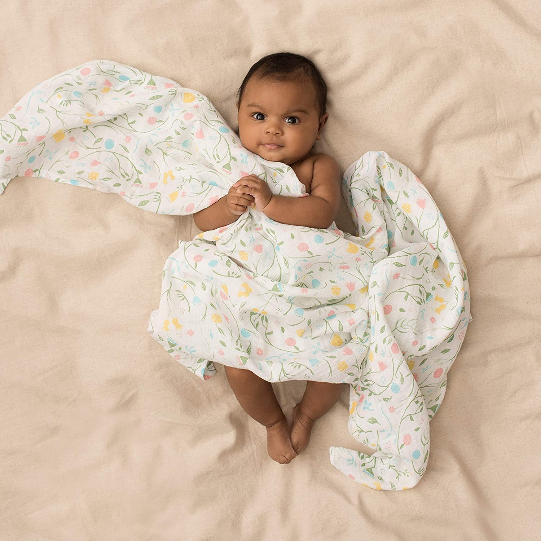 anais Swaddle Aden by aden 100/% Cotton Muslin 112cm X 112cm 4 Pack Spring Awakening