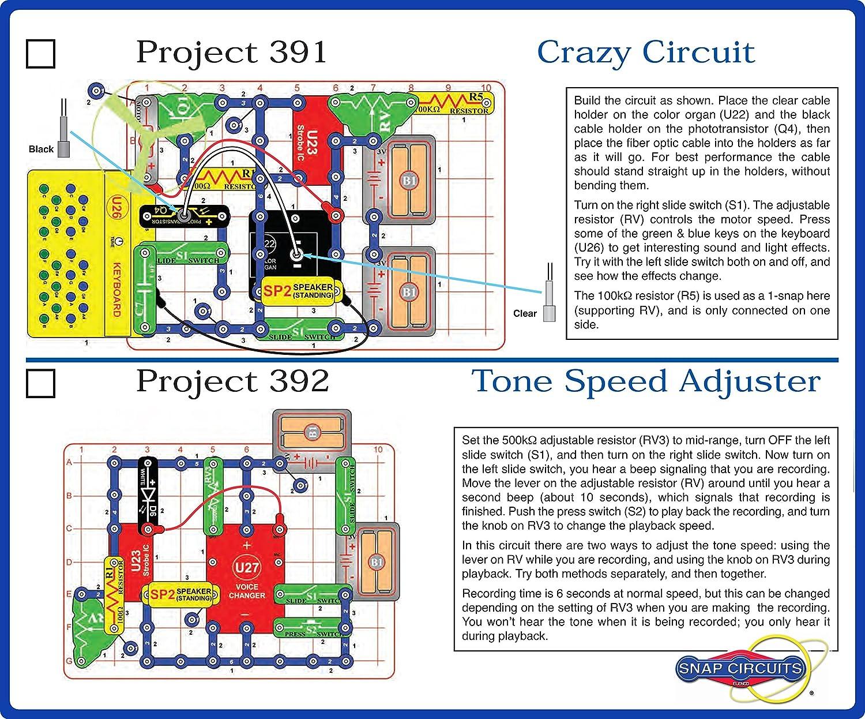 Elenco Electronics Snap Circuits R Deluxe Sound Light Arcade Combo Toys Games