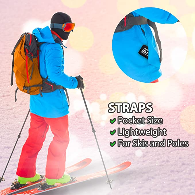 Amazon.com: Ski Straps - Durable Hook and Loop Ski Strap ...