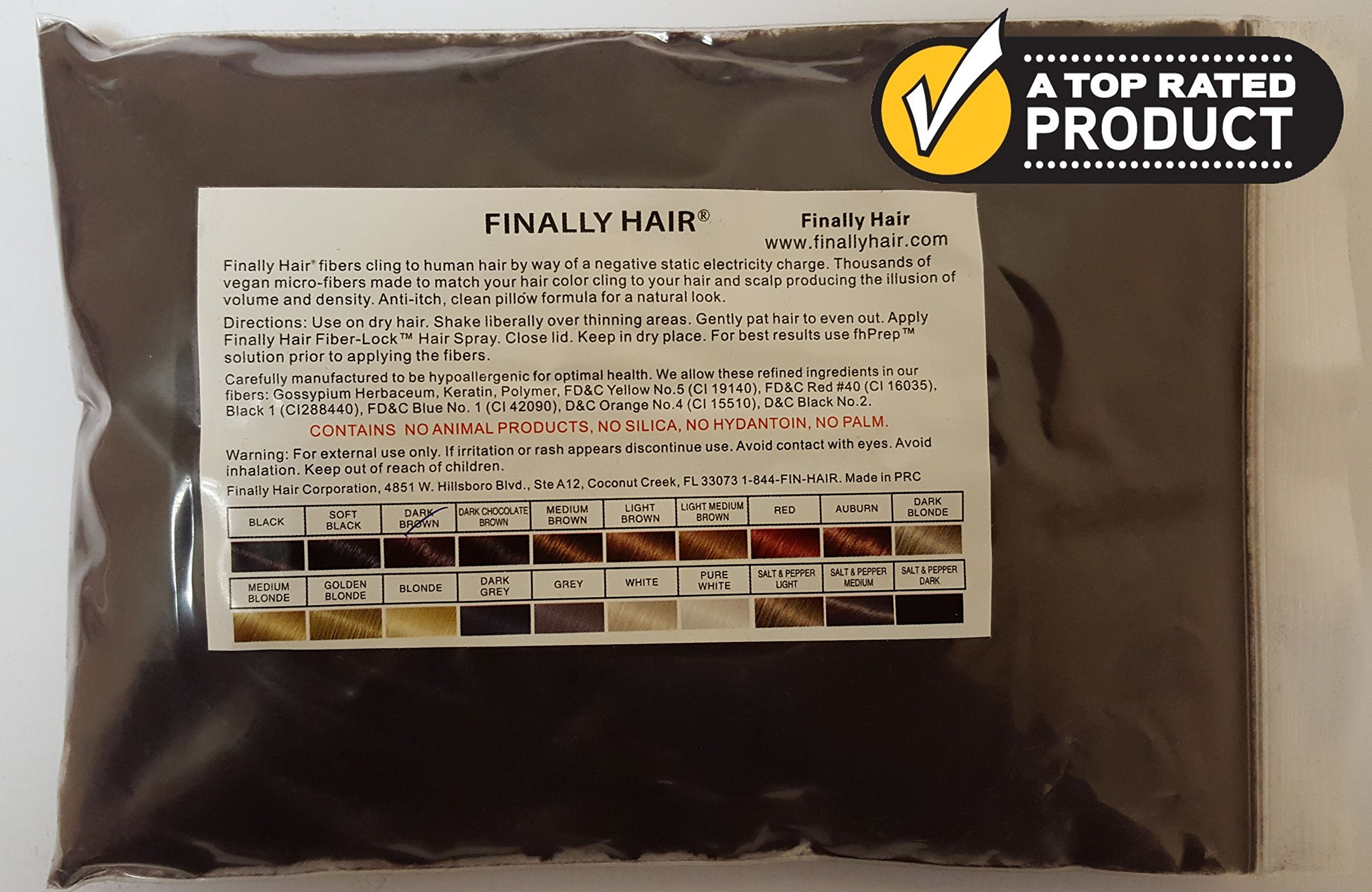 New Hair Building Fibers 100+14=114 Grams. Highest Grade Refill That You Can Use for Your Bottles From Competitors Like Toppik, Xfusion, Eclipse (Dark Brown)