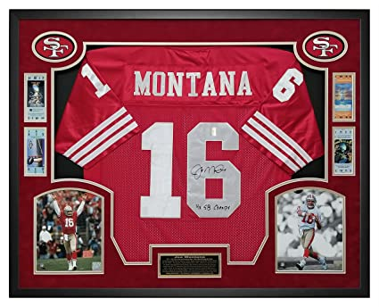 84eebf9db Image Unavailable. Image not available for. Color  Joe Montana Autographed San  Francisco 49ers Jersey ...