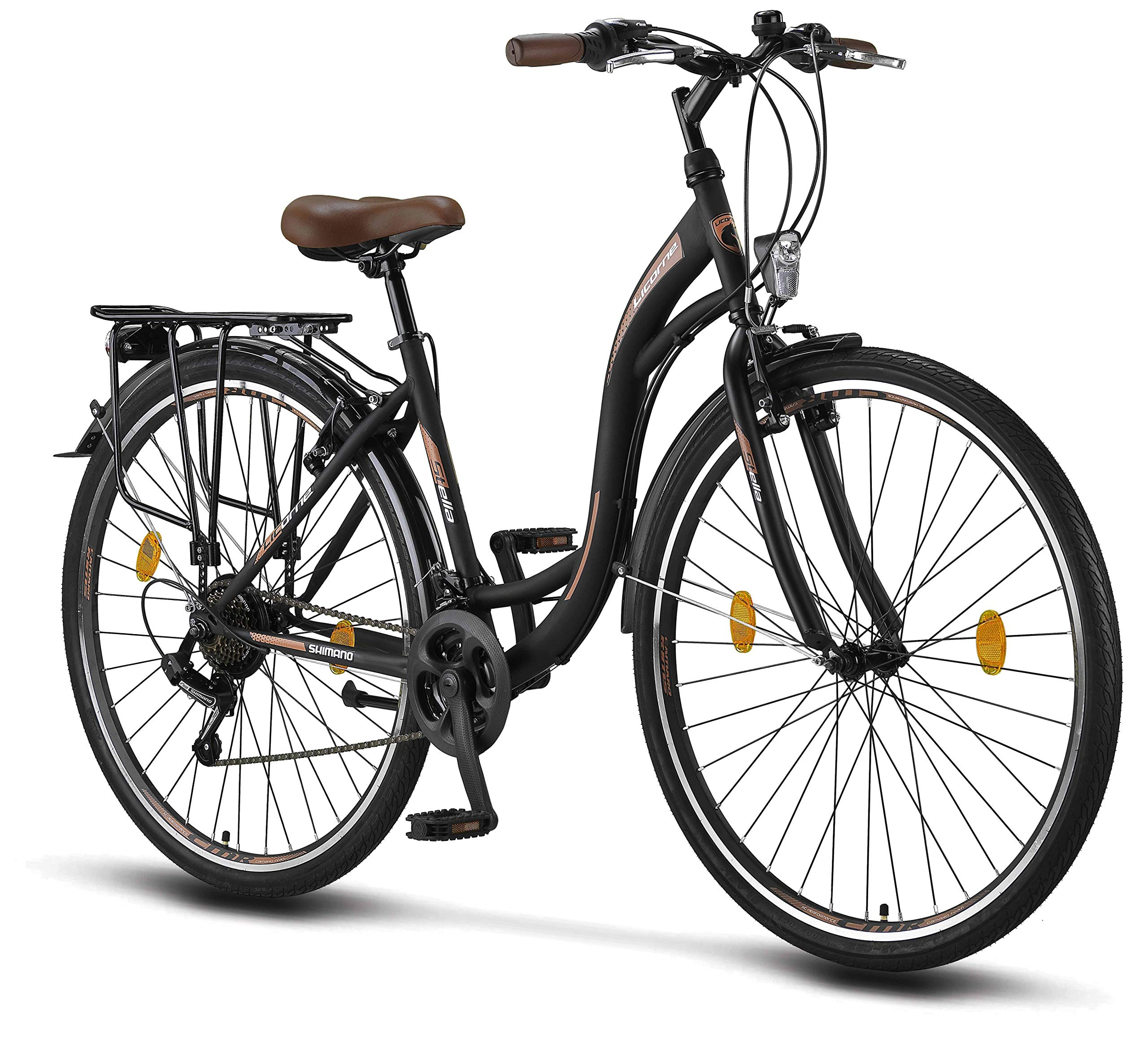 Stella 28 inch women's bike, from 160 cm, bike light, Shimano 21 speed gear, ladies city bike, women's bike, Comfort, Bikes, Retro, Holland, CTB Woman Lady Girl Vintage