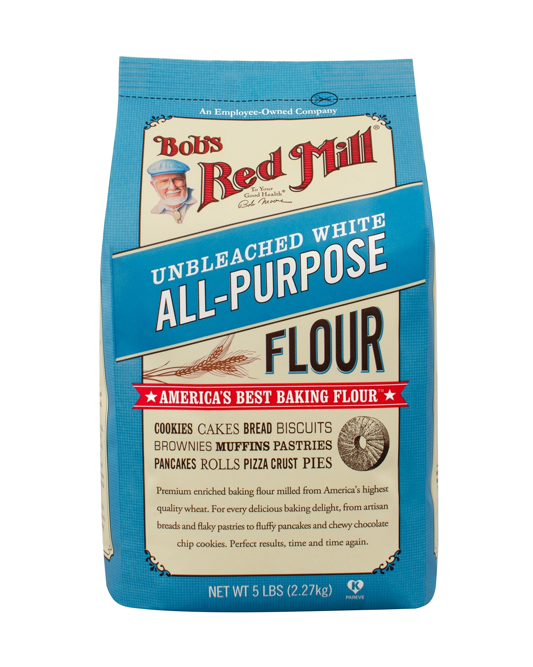 Bob's Red Mill Unbleached White All-Purpose Baking Flour, 5-pound by Bob's Red Mill