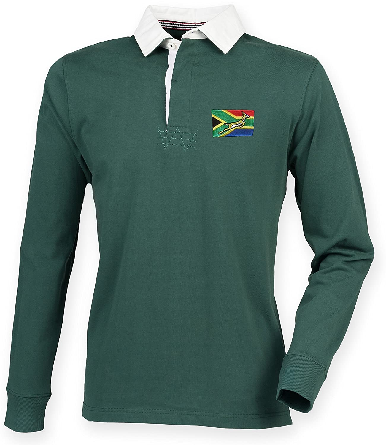 a5dc43942f1 KC INKS South Africa Rugby Shirt with Free Personalization: Amazon.co.uk:  Sports & Outdoors