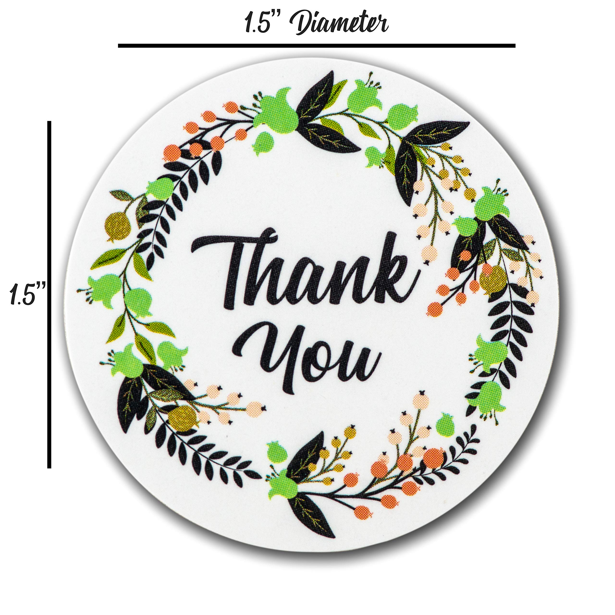 Ivy Paper Co Modern Floral Thank You Stickers | Roll of 1000 | 1.5'' Flower Envelope Sealers | Beautiful Circle Labels for Business, Gifts, Bridal, Thank You Cards Notes | Boho Gift Tags |Cute Stickers by Ivy Paper Co (Image #7)