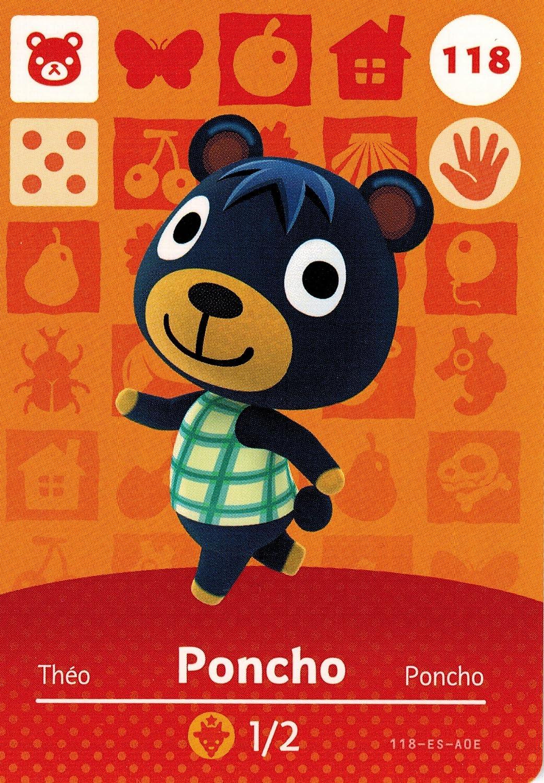 Nintendo Animal Crossing Happy Home Designer Amiibo Card Poncho 118/200 USA Version