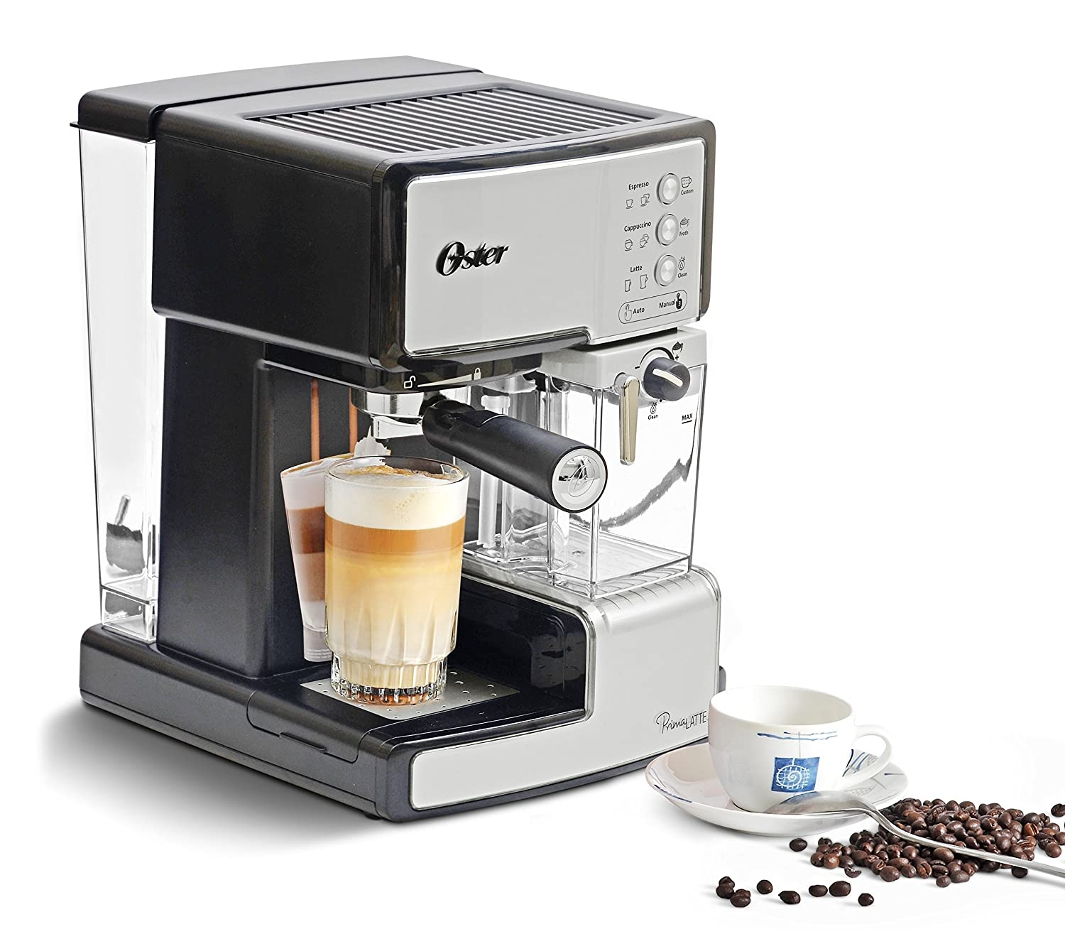 Buy Oster BVSTEM6601S 049 1050 Watt Prima Expresso And Latte Maker Silver Online At Low Prices In India