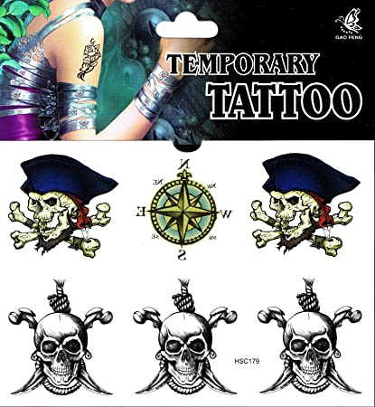 Skull Tattoo 1 arco falsos Tattoo una vez Tatoo Tatto temporary ...