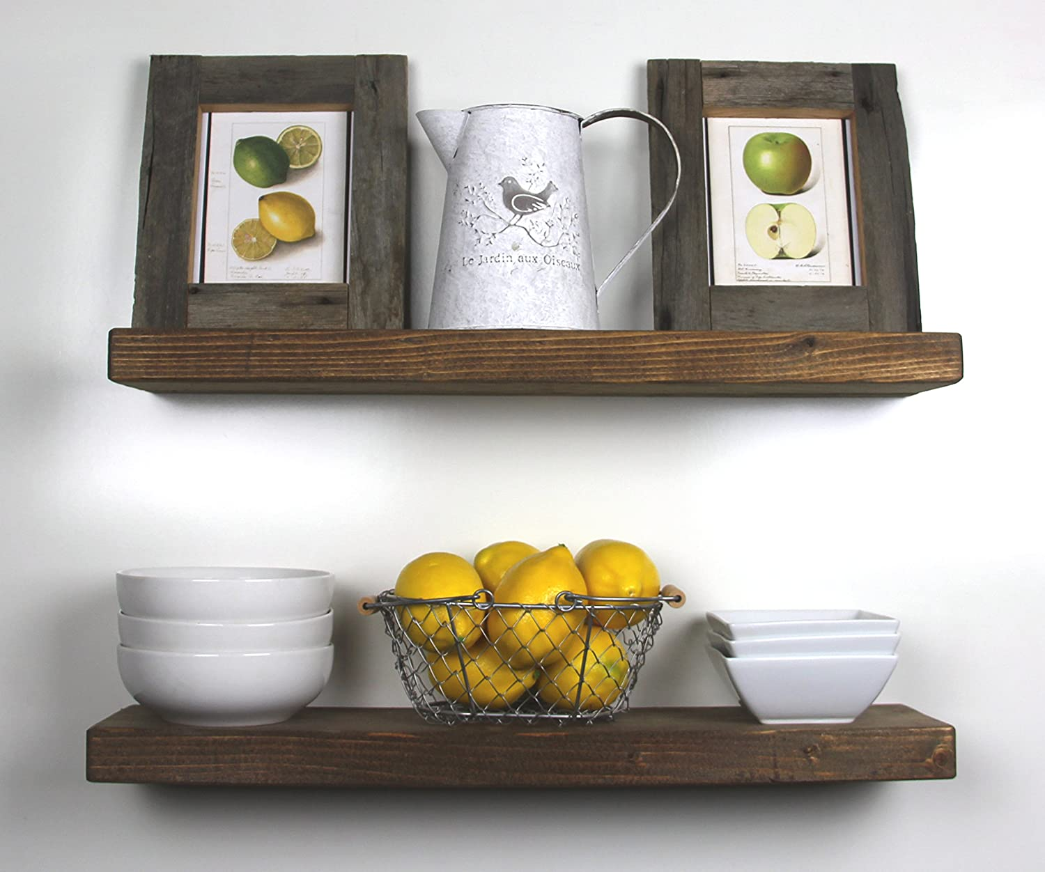 Handmade Rustic Wood Floating Wall Shelves,