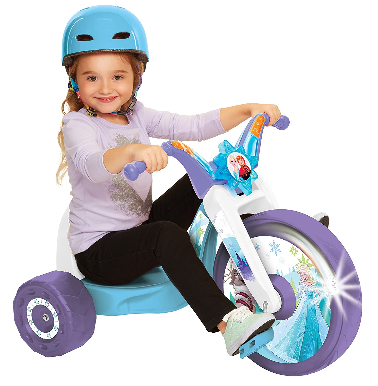 Frozen Northern Lights 15 Fly Wheel Junior Cruiser 1 Ride on Ages 3 7 Purple Blue White 20 W x 22.5 H x 32.83 L