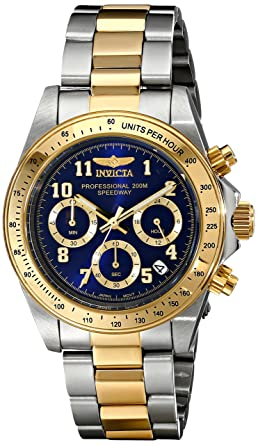 Invicta Mens 17028 Speedway Analog Display Japanese Quartz Two Tone Watch