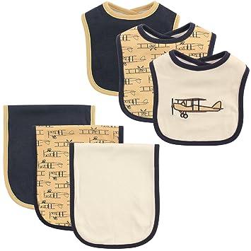 0eb75da98 Amazon.com  Hudson Baby Bib and Burp Cloth Set