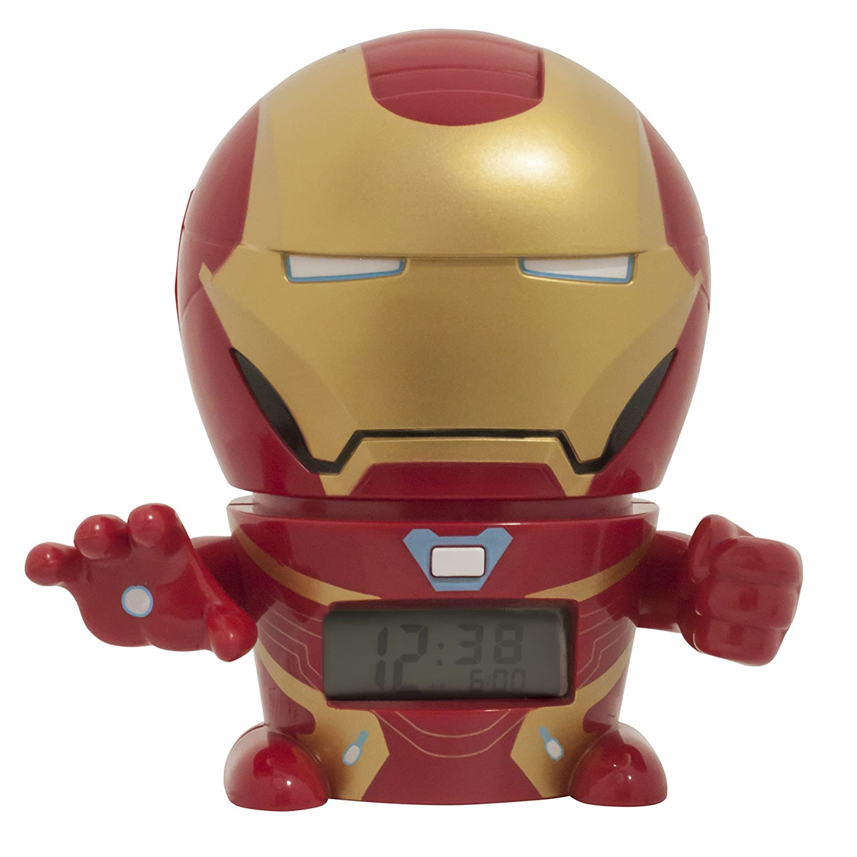 Sveglia e luce notturna per bambini BulbBotz Marvel 2021685 Avengers: Infinity War Iron Man con effetti sonori Clictime