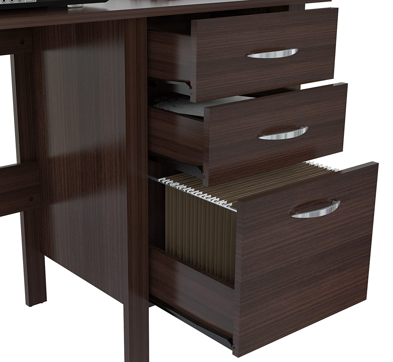 uk tetra desk for computer drawers and co effect furniture cupboard walnut kitchen pc amazon with dark shelves piranha dp in home office
