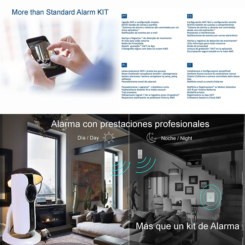 DIYtech W07 Pro Kit de Seguridad, Blanco: Amazon.es: Bricolaje y herramientas