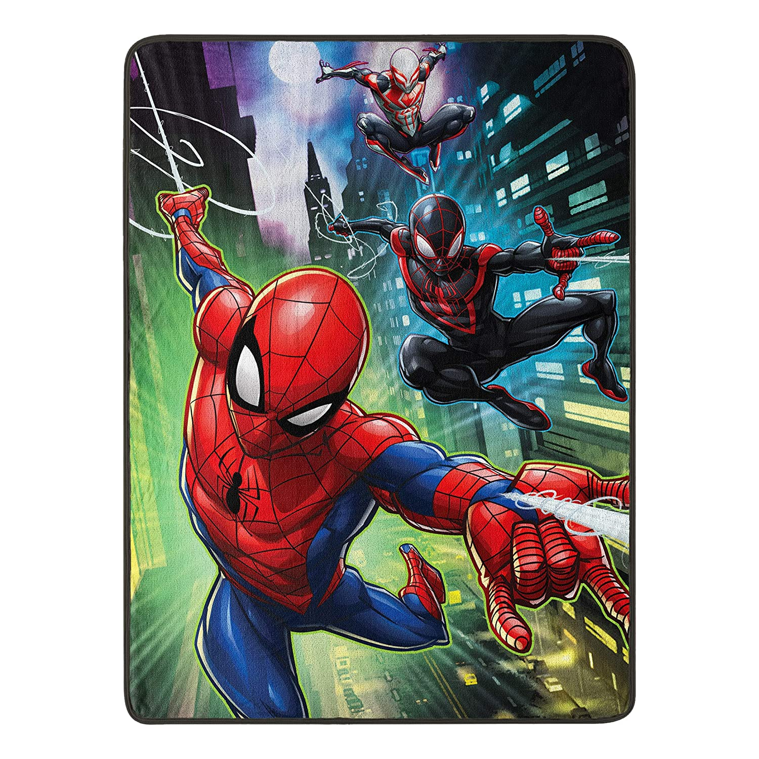 "Marvel's Spider-Man, ""Swing City"" Micro Raschel Throw Blanket, 46"" x 60"", Multi Color"