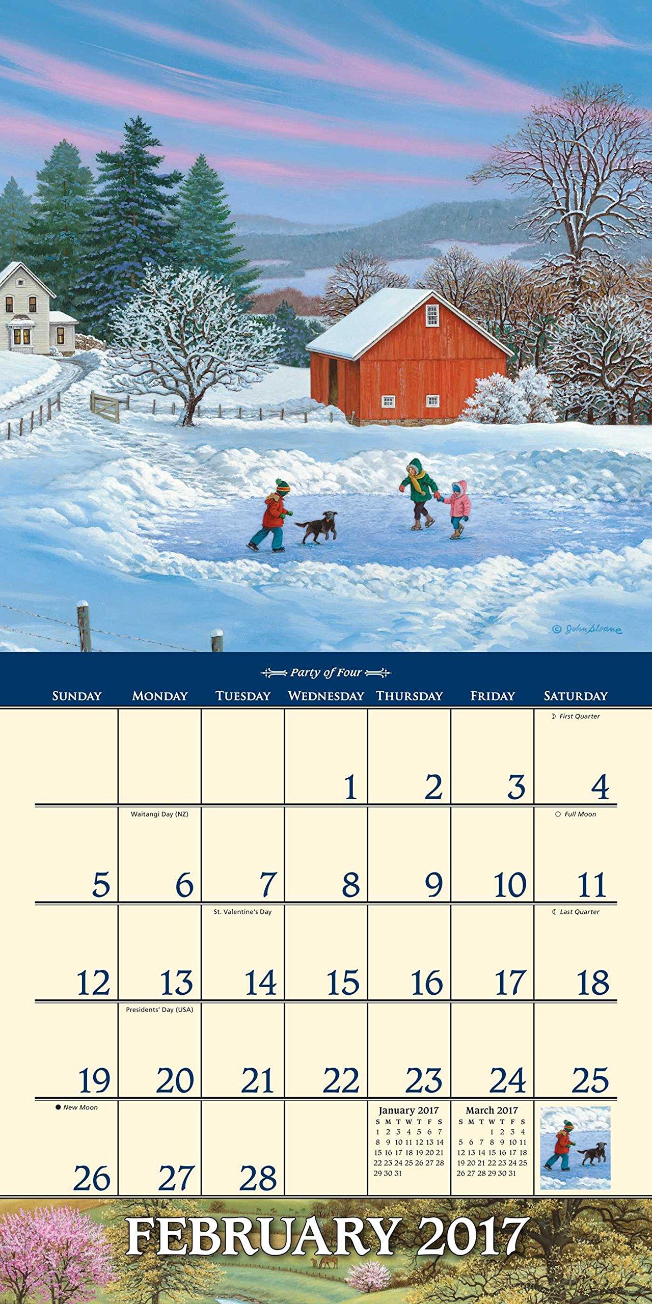 John Sloane s Country Seasons 2017 Mini Wall Calendar John Sloane Amazon Books