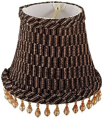 Royal designs 5 beaded blackgoldbrown beaded bell chandelier lamp royal designs 5quot beaded blackgoldbrown beaded bell chandelier lamp shade aloadofball Image collections