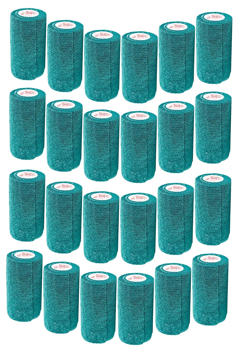 4 Inch Vet Wrap Tape Bulk (Assorted Colors) (6, 12, 18, oder 24 Packs) Self-Adhesive selbst Adherent Adhering Flex Bandage Rap Grip Roll für Hund Katze Pet Horse