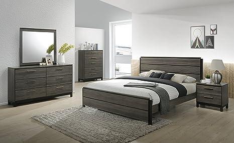 Amazon.com: roundhill Muebles Ioana 187 Juego de cama ...