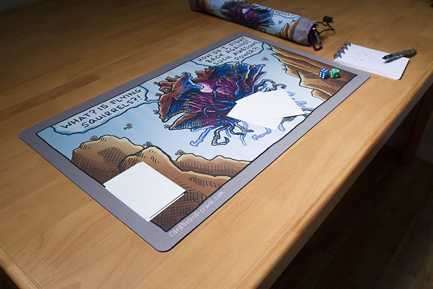 Kit for TCG Card Gaming Squirrel Power Playmat and Playmat Bag